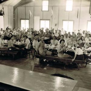 Dining at American squares school 1953.jpg