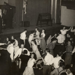 1940 Bob calls square dance to  benefit for Britain War Relief (format change to JPEG High Quality.jpg